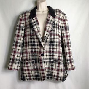 Vintage 90s fundamentals oversized blazer plaid